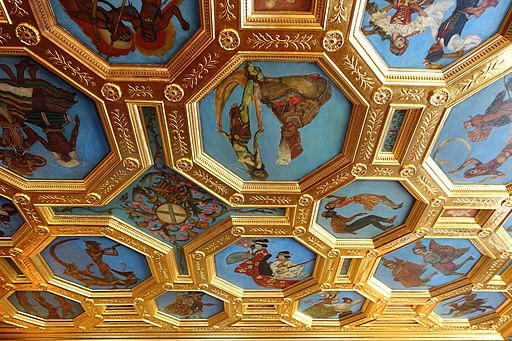 Ballroom ceiling - Cà d'Zan - John and Mable Ringling Museum of Art - Sarasota, FL - DSC00248