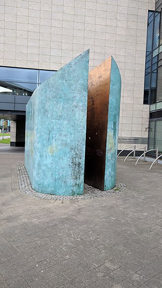 Ballymun - Cathode/Anode sculpture on Main Street, Ballymn