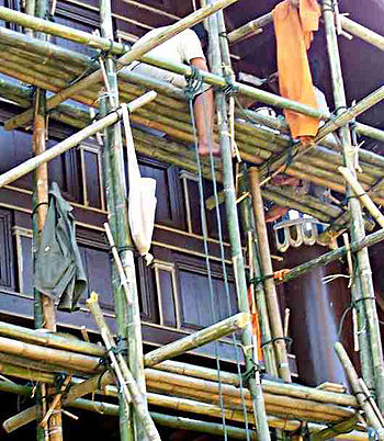 English: Example of Bamboo Scaffolding