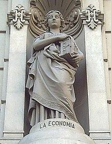 Alegoría de la economía de José Alcoverro en Madrid