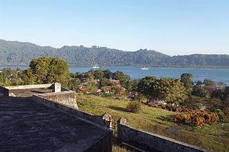 Banda Islands - Banda Besar island seen from Fort Belgica