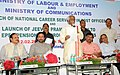 Bandaru Dattatreya addressing at the launch of the National Career Services (NCS) and Jeevan Pramaan facility to EPFO Pensioners through Post Offices, at Dak Sadan, Abids, in Hyderabad.jpg