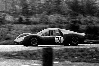 Dino (automobile) - Lorenzo Bandini's Dino 166P in the 1965 1000km Nürburgring
