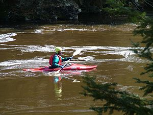 Banning State Park - A kayaker on the Kettle River