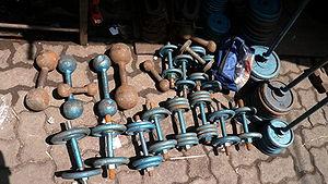 Chor Bazaar - Dumbbells for sale at Chor Bazaar