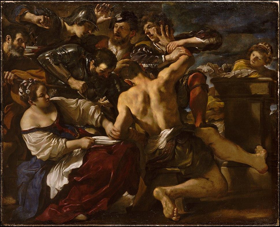 Barbieri, Giovanni Francesco (Guercino) - Samson Captured by the Philistines - 1619