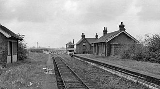 Hull and Barnsley Railway - Remains in 1961 of Barmby station