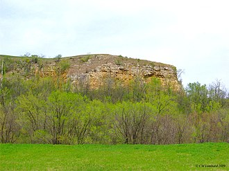 National Register of Historic Places listings in Goodhue County, Minnesota - Image: Barn Bluff, Red Wing, Minnesota