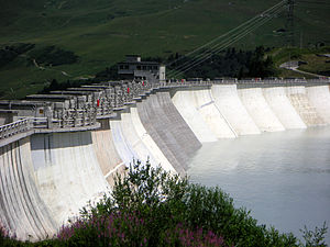 Albert Caquot - Dam of La Girotte (Alps, France), 1949.