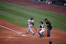 Barry Bonds at bat during a baseball game in May 2007.