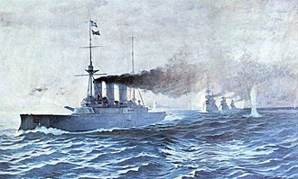 SMS Kurfürst Friedrich Wilhelm - Painting depicting the Greek fleet during the Battle of Elli