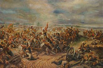 Serbian Revolution - Battle of Mišar (1806), painting by Afanasij Šeloumov