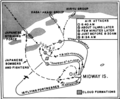 Battle of Midway map - attacks of Midway based aircraft on 4 June 1942.png