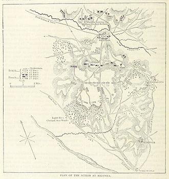 Battle of Redinha - A map of the battle