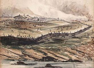 Battle of Saint-Charles - A contemporary watercolour of the Battle of Saint-Charles depicting the rout of Brown's rebels.