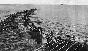 Japan during World War I - Japanese troops landing near Tsingtao.