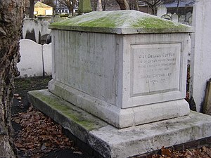Thomas Bayes - Monument to members of the Bayes and Cotton families, including Thomas Bayes and his father Joshua, in Bunhill Fields burial ground