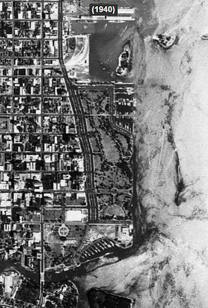 Bayfront Park - Historic Aerial Photograph of Bayfront Park in 1940
