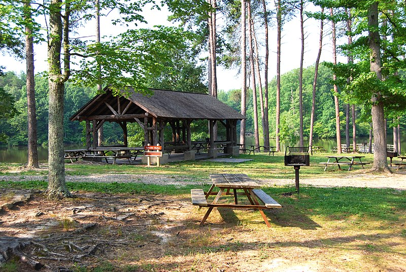 File Bear Creek Lake State Park Picnic Table And Grill