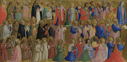 Fra Angelico: The Virgin Mary with the Apostles and Other Saints