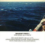 Scala Beaufort, forza 6