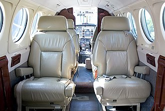 Beechcraft Super King Air - Super King Air cabin