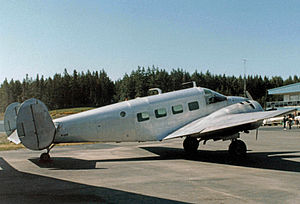Friday Harbor Airport - Beechcraft Model 18 carrying freight to Friday Harbor from the Washington mainland
