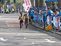 Bekele and Kebede, London Marathon 2011.jpg