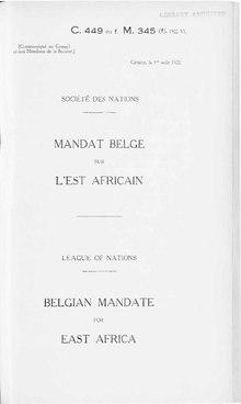 Couverture du document de mandat