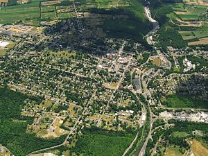 Bellefonte, Pennsylvania - Aerial photo of Bellefonte looking south