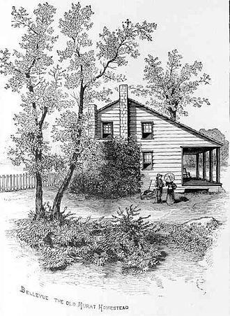 Bellevue Plantation - Engraving of Bellevue 1885
