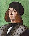 Bemberg Fondation Toulouse - Ritratto di un giovane uomo con un cappellino nero - Andrea Previtali 33x27 Huile sur panneau Inv.1041.jpg