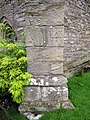 Bench mark on St Oswald's, Thornton in Lonsdale - geograph.org.uk - 1500616.jpg