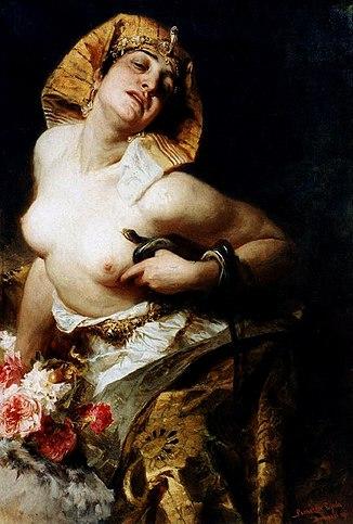 Смерть Клеопатры, картина венгерского художника Дюлы Бенцура, 1911