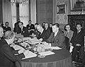 Benelux-conferentie te Brussel. Aan het hoofd van de tafel de Belgische minister, Bestanddeelnr 903-4140.jpg