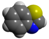 Space filling model of benzothiazole