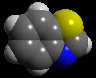 Benzothiazole - Image: Benzothiazole space filling