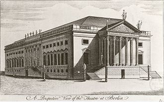 Berlin State Opera - The Court Opera, about 1745