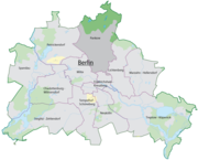 The location of Pankow in Berlin.