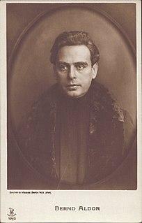 Bernd Aldor German actor