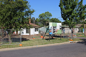 O'Connor, Australian Capital Territory - Houses being demolished to make way for three-storey units in Berrigan Crescent