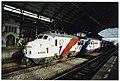 Bevrijdingstrein 1995 begint tournee in Haarlem. Viertje Mat '56 nr 763 op spoor 2 van het Haarlemse station, klaar om te vertrekken naar Rotterdam. NL-HlmNHA 54035266.JPG