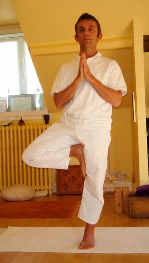 Yoga postures Bhagaritasana.intro.