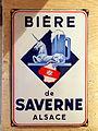 Bière Savarne, Alsace, enamel sign.JPG