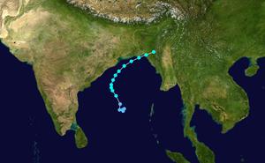 Cyclone Bijli - Image: Bijli 2009 track