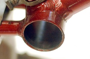 Bottom bracket - Plain bottom bracket shell of Royal Enfield Revelation houses Bayliss Wiley unit bottom bracket