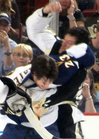 Bill Guerin - Guerin fights Jim Slater, April 2010.