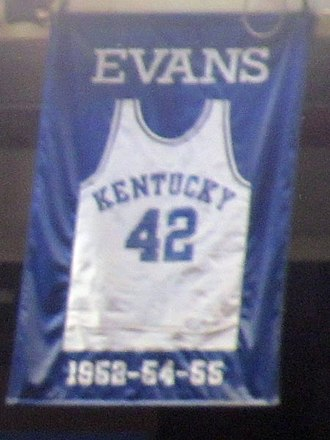 William Evans (basketball player) - A jersey honoring Evans hangs in Rupp Arena.