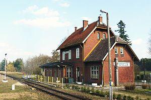 Bińcze - Image: Bincze rail.station
