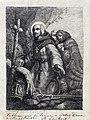 Bisschop en twee monniken geknield voor een crucifix (Th Schaepkens).jpg
